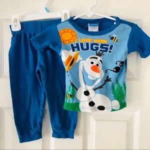 Frozen Olaf Disney pajamas